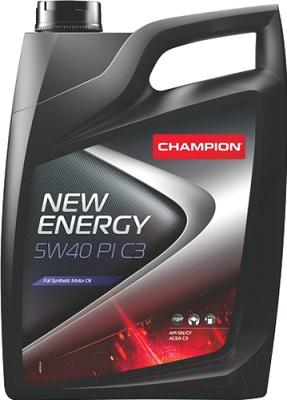 Масло моторное синтетическое - Champion New Energy PI C3 5W-40 4л