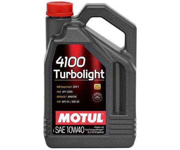 Масло моторное полусинтетическое - MOTUL 4100 TURBOLIGHT 10W-40 5л