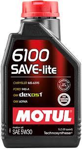 Масло моторное полусинтетическое - MOTUL 6100 SAVE-LITE 5W-30 1л