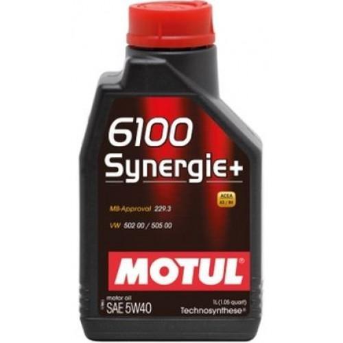 Масло моторное полусинтетическое - MOTUL 6100 SYNERGIE+ 5W-40 1л