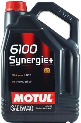 Масло моторное полусинтетическое - MOTUL 6100 SYNERGIE+ 5W-40 5л