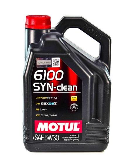 Масло моторное синтетическое - MOTUL 6100 SYN-CLEAN 5W-30 5л