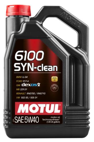 Масло моторное синтетическое - MOTUL 6100 SYN-CLEAN 5W-40 5л