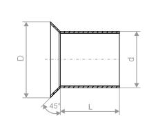 Муфта с воротником d60мм, D80мм, L85мм