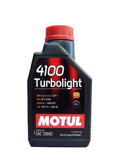 Масло моторное полусинтетическое - MOTUL 4100 TURBOLIGHT 10W-40 1л