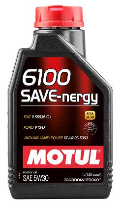Масло моторное полусинтетическое - MOTUL 6100 SAVE-NERGY 5W-30 1л