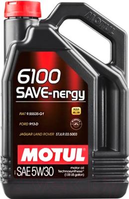 Масло моторное полусинтетическое - MOTUL 6100 SAVE-NERGY 5W-30 5л