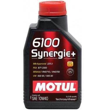Масло моторное полусинтетическое - MOTUL 6100 SYNERGIE+ 10W-40 1л